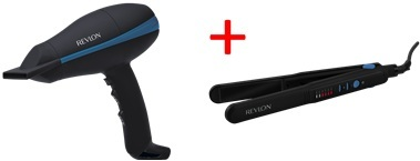 Revlon RVDR5310ARB Hair Dryer + RVST2408ARB Hair Straightner