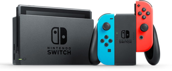 Nintendo Switch Gaming Console 32GB Black With Neon Joy Con + 1 Assorted Game