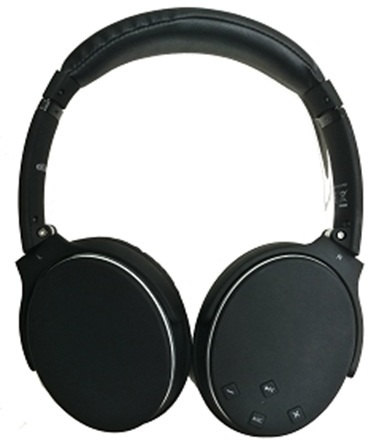 Eklasse Bluetooth Active Noise Canceling Headphone Black EKBTANCHP01