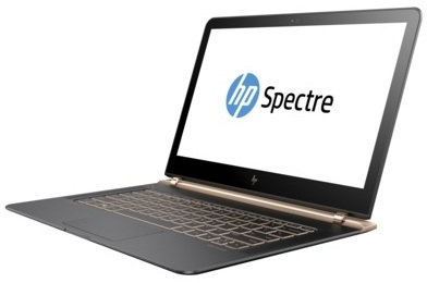 HP Spectre 13V103NE Laptop - Core i7 2.7GHz 8GB 1TB Shared Win10 13.3inch FHD Silver