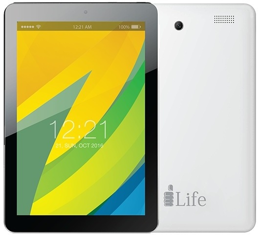 lLife I-Tell K1200 Tablet - Android WiFi 8GB 1GB 8inch Black White + I-Tell Spark 5 S500 Dual Sim Smartphone 8GB