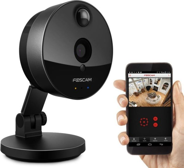Foscam FIC1 Indoor HD 720P Wireless Plug & Play IP Camera Black W/ Night Vision