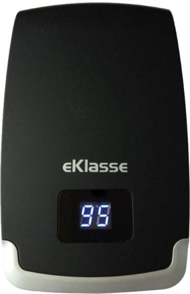 Eklasse EKPB10401 Power Bank 10000mAh W/ LCD Digital Display Black Silver Input 1.5A/output 4A