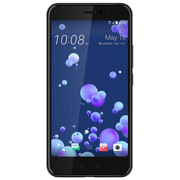 HTC U11 4G Dual Sim Smartphone 128GB Brilliant Black+Car Charger+Flip Case