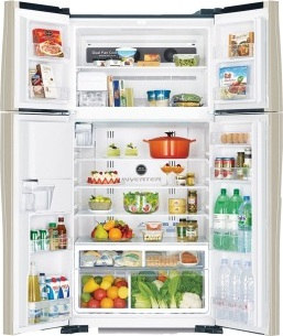 Hitachi Side By Side Refrigerator 660 Litres RW660PUK3GBK