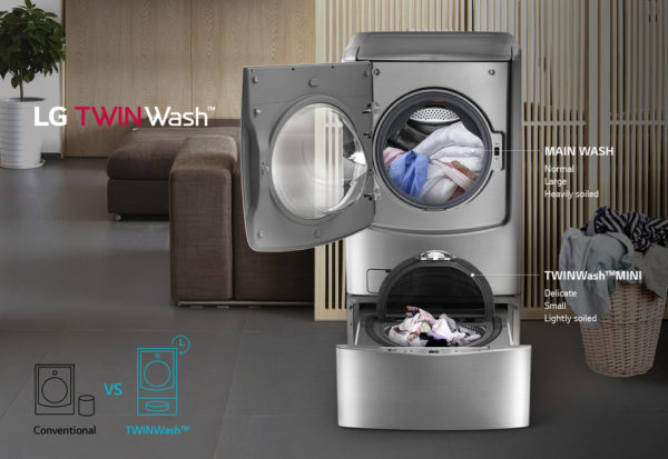 LG Washer & Dryer Twin Wash FH0C9CDHK72/F70E1UDNK12