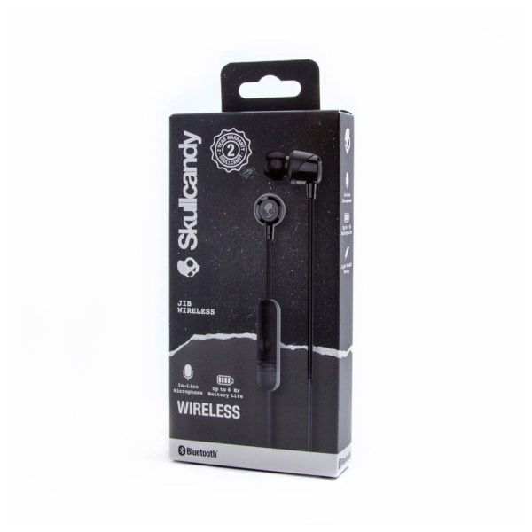 Skullcandy S2DUWK003 JIB Wireless In-Ear Headphones Black + JIB Earbud Wired Earphone