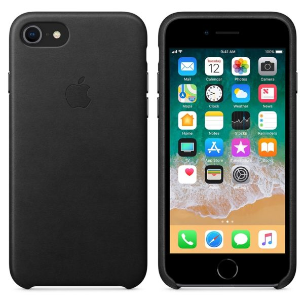 Apple Leather Case Black For iPhone 8/7 - MQH92ZM/A