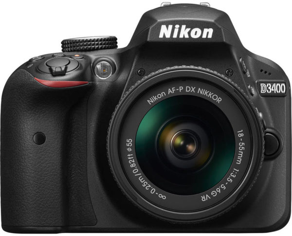 Nikon D3400 DSLR Camera Black With AF-P 18-55mm VR Lens