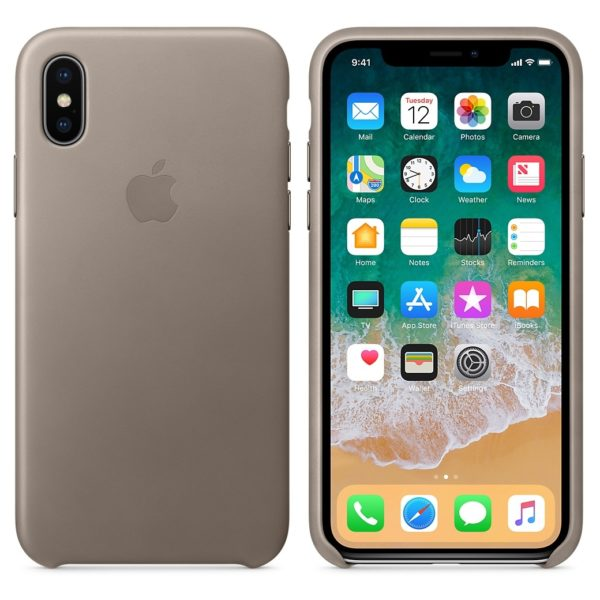 Buy Apple Leather Case Taupe For iPhone X \u2013 MQT92ZM\/A in Dubai UAE. Apple Leather Case Taupe For