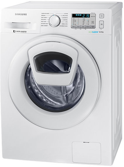 Samsung Front Load Washer 8Kg White 8kg WW80K5413WWSG