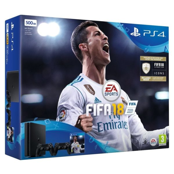 Sony PS4 Console 1TB + Dual Shock 4 Controller + FIFA 18 Game