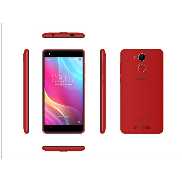 Vsun Mars Touch 4G Dual Sim Smartphone 16GB Red