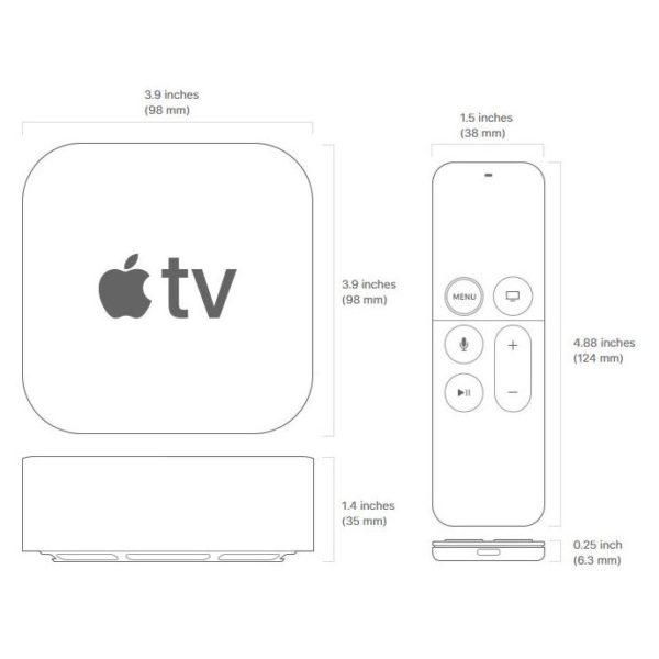 apple 4k tv 32gb. apple tv 4k 32gb black mqd22ae/a 4k tv 32gb e