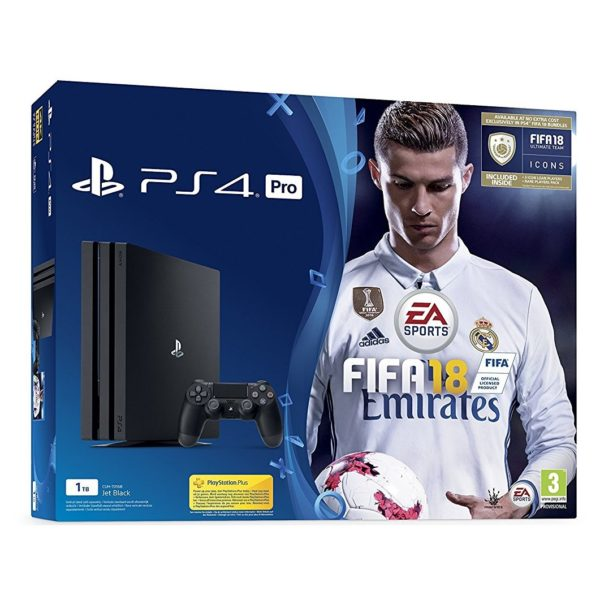 Sony PS4 Pro Console 1TB + FIFA18 Game