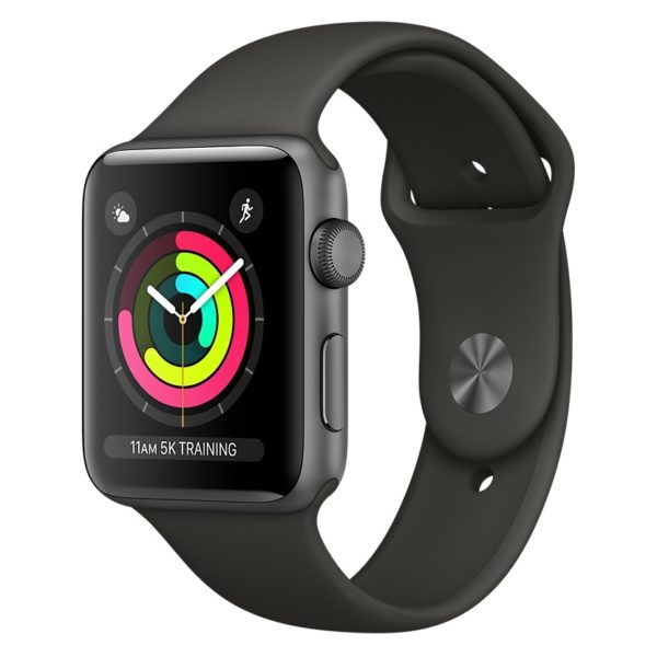Apple Watch Series 3 GPS - 38mm Space Grey Aluminium Case with Grey Sport Band