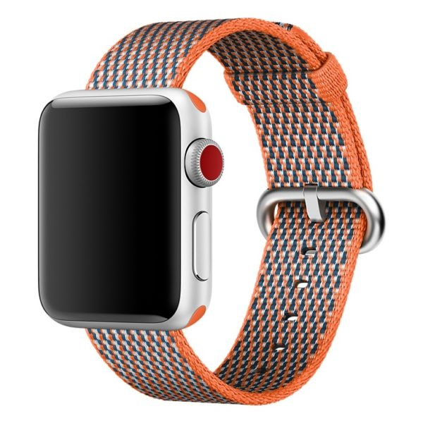 Apple Woven Nylon Band 38mm Spicy Orange Check - MQVE2ZM/A