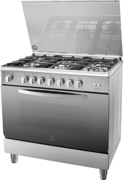 Indesit 5 Gas Burners Cooker I95T1CXEX