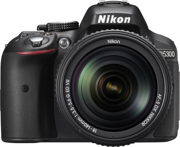 Nikon D5300 DSLR Camera Black + 18-140mm VR Lens