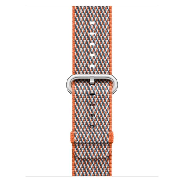 Apple Woven Nylon Band 42mm Spicy Orange Check - MQVP2ZM/A