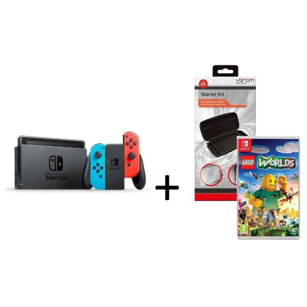Buy Nintendo Switch Console 32GB Neon Joy Con + Lego Worlds Game + ...