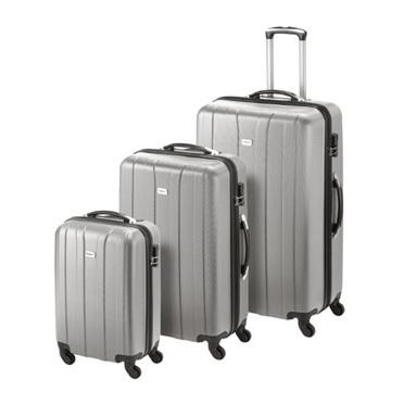 Princess Travellers CUBA Luggage Trolley Bag Silver Set Of 3