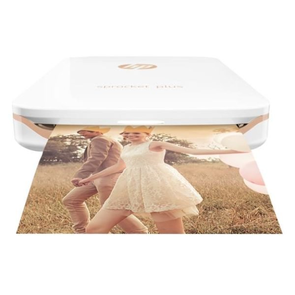 HP Sprocket Plus Bluetooth Photo Printer White - 2FR85A