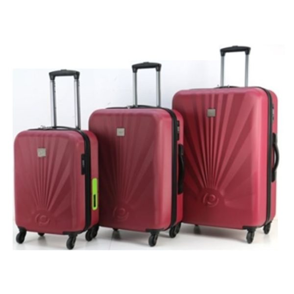 Princess Travellers GENEVA Luggage Trolley Bag With Built in Scale & Power Bank Silver Set Of 3