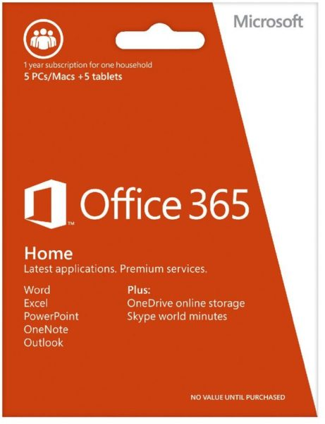Microsoft 6GQ00085 Office 365 Home Software Online Product Key License