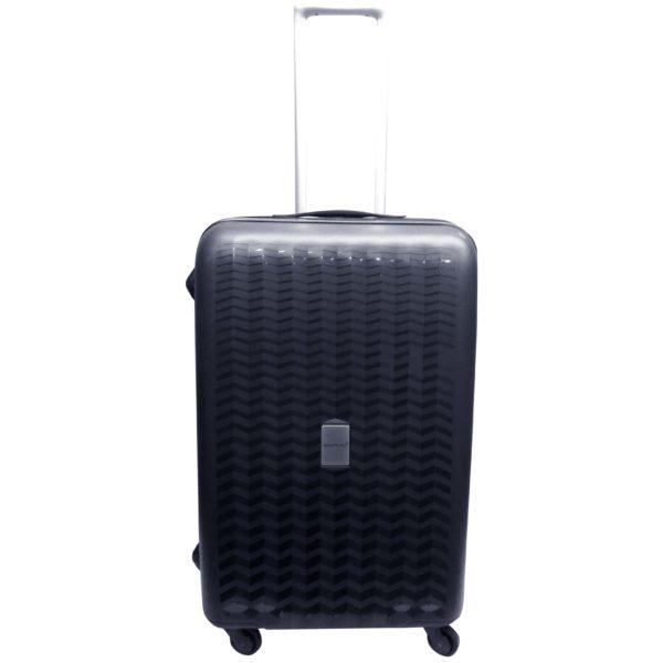 Highflyer WAVES Unbreakable Hard Trolley Luggage Bag 3pc Set TH-WAVES-3PC - Black