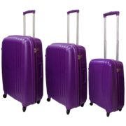 Highflyer THKELVIN3PC Kelvin Trolley Luggage Bag Purple 3pc Set