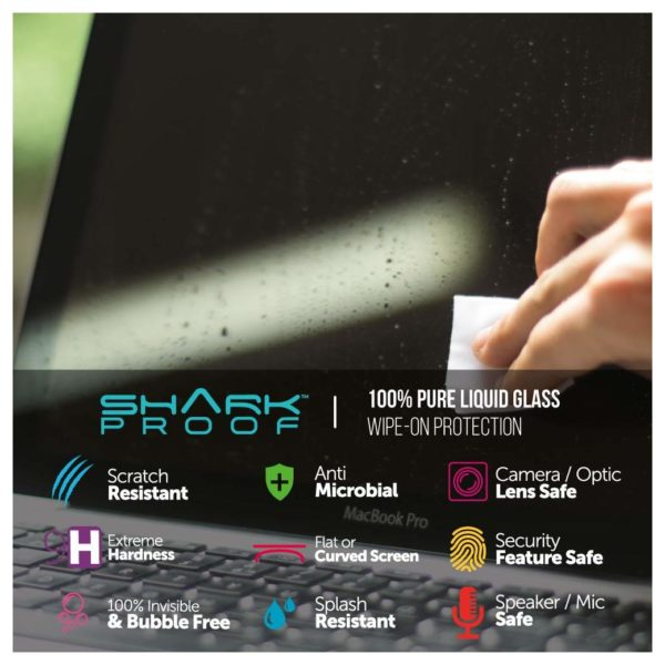 Shark Proof SP2 Liquid Glass Screen Protector For Laptop
