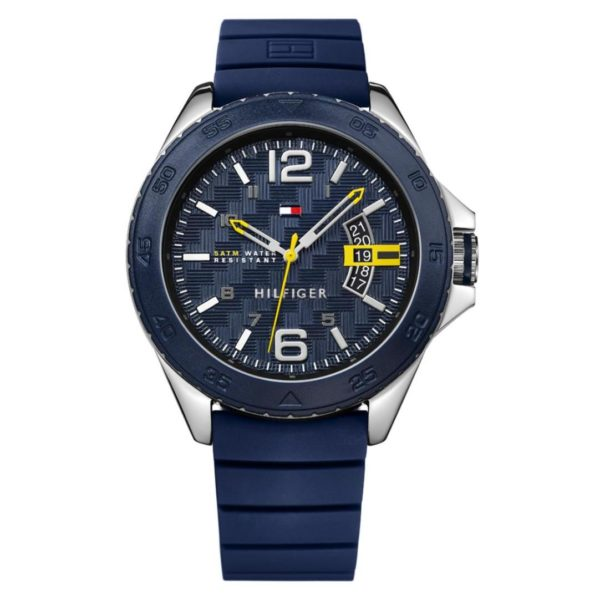 Tommy Hilfiger Cody Watch For Men with Blue Silicone Strap