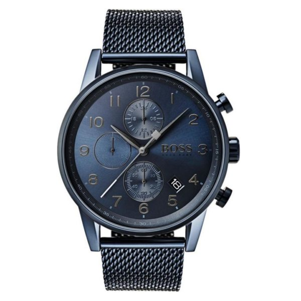 Hugo Boss Navigator Watch For Men with Blue Mesh Bracelet