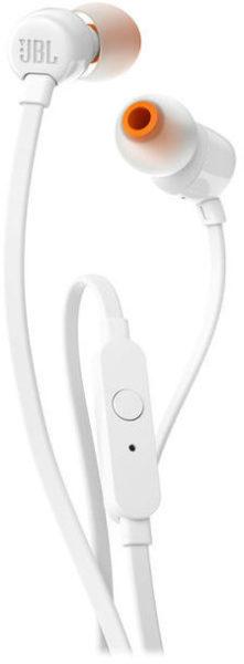 JBL T110 In Ear Wired Headphone White