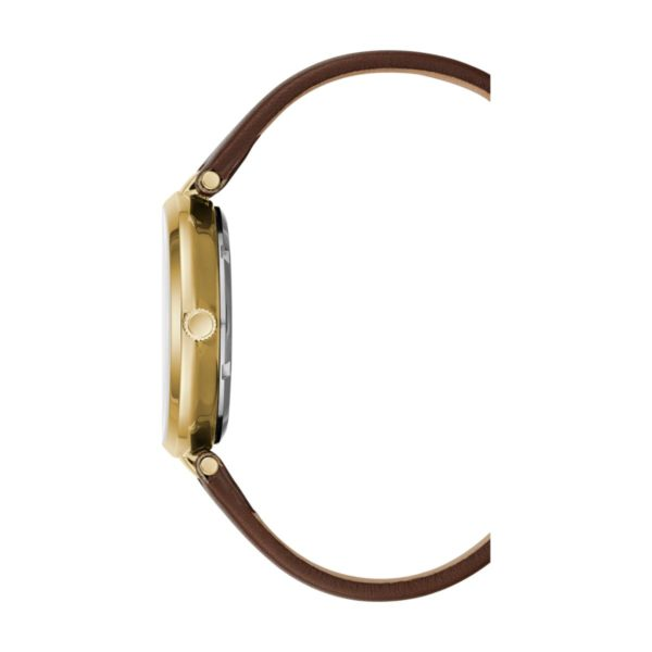 Kenneth Cole Transparency Watch For Women with Brown Genuine Leather Strap