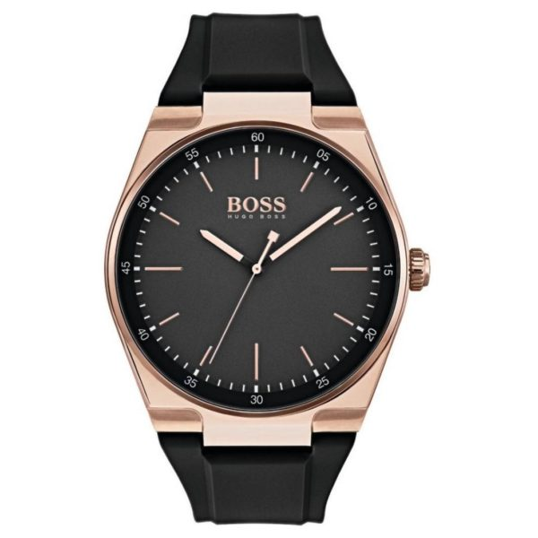 Hugo Boss Magnitude Watch For Men with Black Rubber Strap