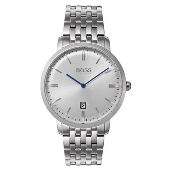 Hugo Boss Tradition Watch For Men with Silver Metal Bracelet