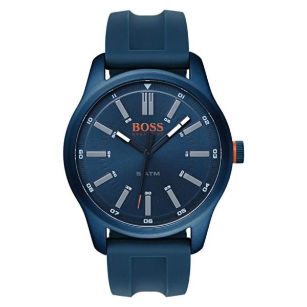 Hugo Boss Dublin Watch For Men with Blue Rubber Strap