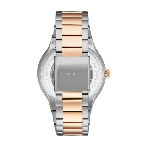 Kenneth Cole Automatic Watch For Men with Two Tone Stainless Steel Bracelet