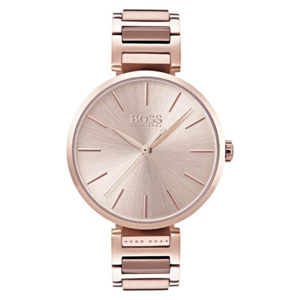 Hugo Boss Allusion Watch For Women with Carnation Gold Metal Bracelet