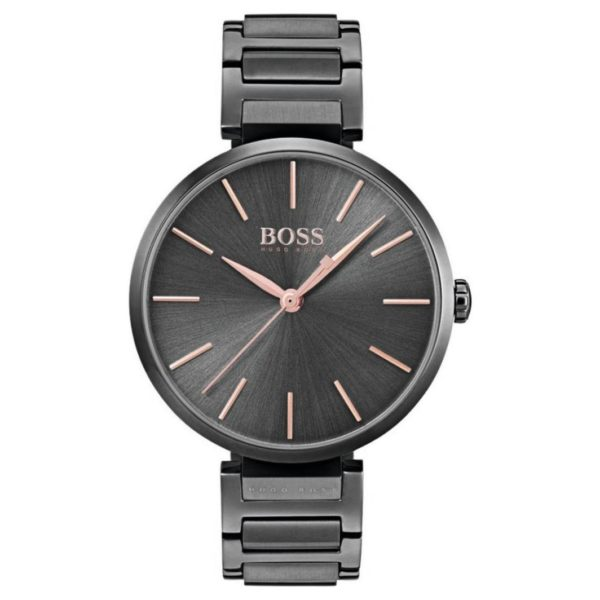 Hugo Boss Allusion Watch For Women with Grey Metal Bracelet