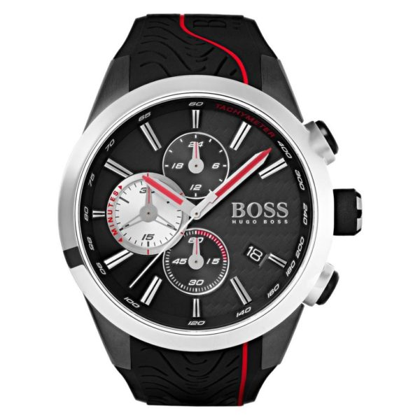 Hugo Boss Motorsport Watch For Men with Black Rubber Strap