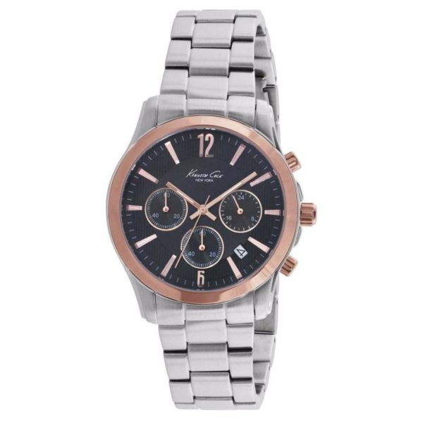 Kenneth Cole New York Dress Sport Chronograph Watch For Men with Stainless Bracelet