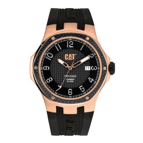CAT A519121119 Navigo Carbon Date Mens Watch