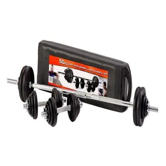 Skyland Dumbbell & Barbell Set 50kgs EM922150