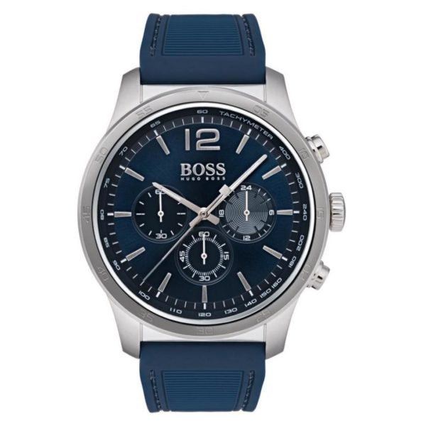 Hugo Boss The Professional Watch For Men with Blue Rubber Strap