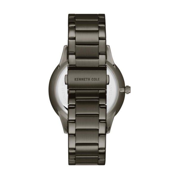 Kenneth Cole Genuine Diamonds Watch For Men with Gun Stainless Steel Bracelet