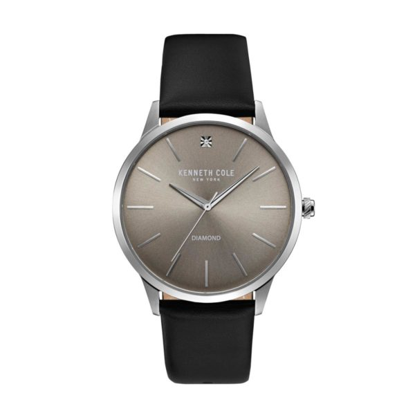 Kenneth Cole New York Watch For Men with Black Leather