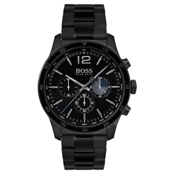 Hugo Boss The Professional Watch For Men with Black Metal Bracelet